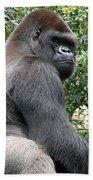 Grumpy Gorilla Beach Towel