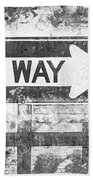 Grunge One Way Beach Towel