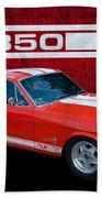 Red Gt 350 Mustang Beach Towel
