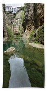 Guadalevin River At El Tajo Gorge From The Bottom Of The Secret  Beach Towel