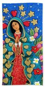 Guadalupe With Stars Beach Towel