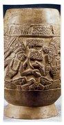 Guatemala: Mayan Vase Beach Towel
