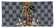 Gucci With Jewelry Beach Towel