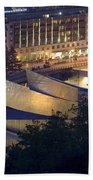 Guggenheim At Night Beach Towel
