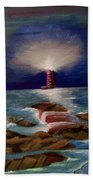 Guiding Night Light Beach Towel