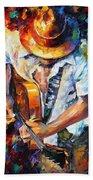 Guitar And Soul Beach Towel
