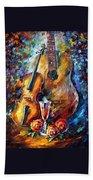 Guitar And Violin Beach Towel