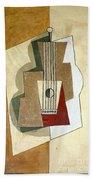 Guitar, By Pablo Picasso, 1919, Kroller-muller Museum, Hoge Velu Beach Towel