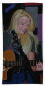 Guitar Girl Beach Towel