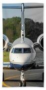 Gulfstream Aerospace G500 I-delo Frontal.nef Beach Towel