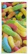 Gummy Worms Beach Towel