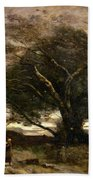 Gust Of Wind Beach Towel by Jean Baptiste Camille Corot