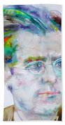 Gustav Mahler - Watercolor Portrait.3 Beach Towel