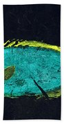 Gyotaku Mu Mu Beach Towel by Captain Warren Sellers