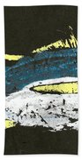 Gyotaku Yellowfin Tuna Beach Towel