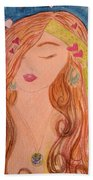Gypsy Girl 2 Love To The World Beach Towel