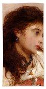 Gypsy Girl Beach Towel by George Elgar Hicks