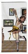 Digital Exhibartition _  Dancing Girl  Beach Towel