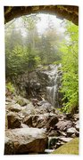 Hadlock Falls Under Carriage Road Arch Beach Towel