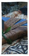 Hafted Hawaiian Adze Wailea Maui Hawaii Beach Towel
