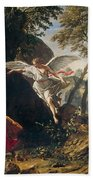 Hagar And Ishmael In The Wilderness Beach Towel