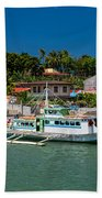Hagnaya's Port And Fishing Village Beach Towel