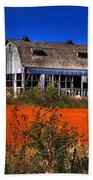 Hainesville Barn Color Beach Towel