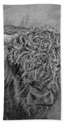 Hairy Highlander Bw Beach Towel