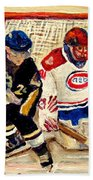 Halak Catches The Puck Stanley Cup Playoffs 2010 Beach Towel