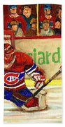 Halak Makes Another Save Beach Towel by Carole Spandau
