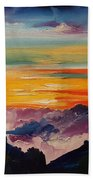 Haleakala Volcano Sunrise In Maui      101 Beach Towel
