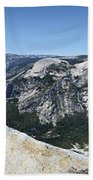 Half Dome And Yosemite Valley From The Diving Board - Yosemite Valley Beach Towel