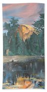 Half Dome Sunset Beach Towel
