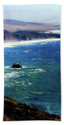 Half Moon Bay Beach Towel by Karen Wiles