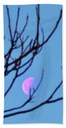 Half Moon Through The Trees Beach Towel