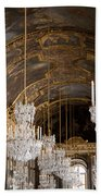 Hall Of Mirrors Palace Of Versailles France Beach Towel