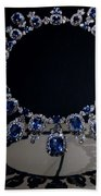 Hall Sapphire And Diamond Necklace Beach Towel