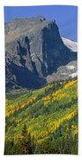 310221-v-hallet Peak In Autumn V  Beach Towel