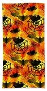 Halloween Abstract - Happy Halloween Beach Towel