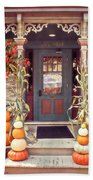 Halloween In A Small Town Beach Sheet