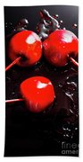 Halloween Toffee Apples Beach Towel
