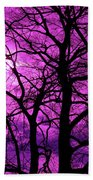 Halloween Trees No 3 By Dm Carpenter Beach Towel