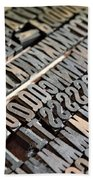Hamilton Printing Press Letters Beach Towel