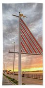 Hampton Beach Sunrise Hampton Beach State Park Hampton Nh Flag Beach Towel