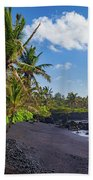 Hana Bay Palms Beach Towel by Inge Johnsson
