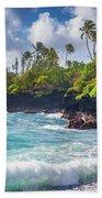 Hana Bay Waves Beach Sheet