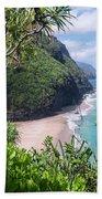 Hanakapiai Beach - Kalalau Trail - Kauai Hawaii Beach Towel