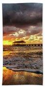 Hanalei Pier Reflections Beach Towel