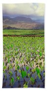 Hanalei Valley Taro Ponds Beach Towel
