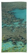 Hanauma Bay Reef And Snorkelers Beach Towel